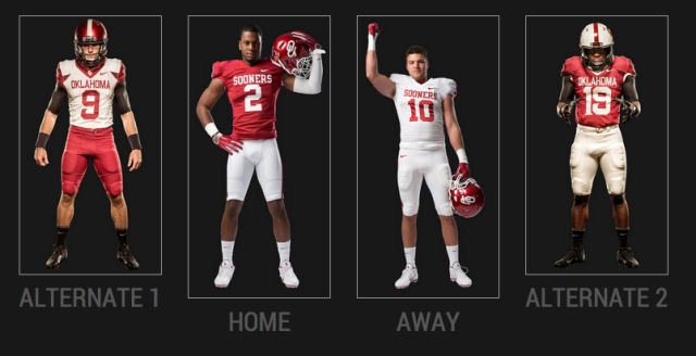 Sooners Alternate Uniforms
