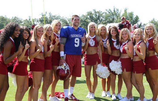 Trevor knight and cheerleaders