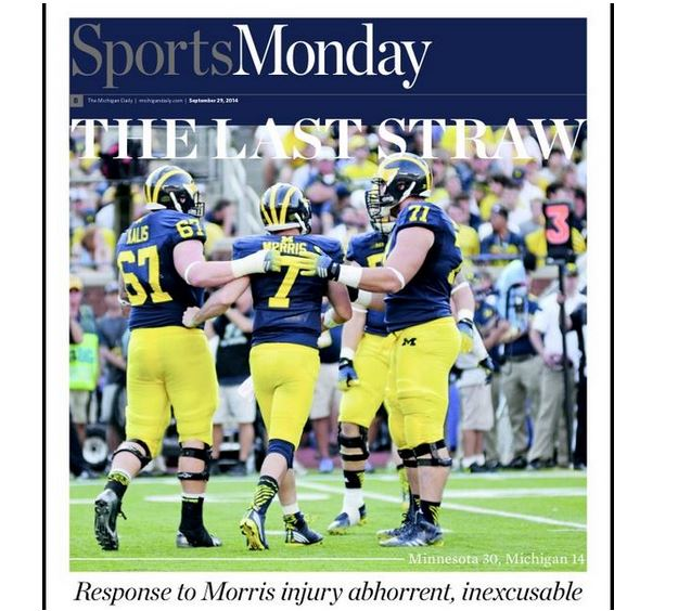 Michigan's Student Newspaper's Football Beat Reporters
